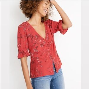 Madewell Daylit Top in Windswept Floral
